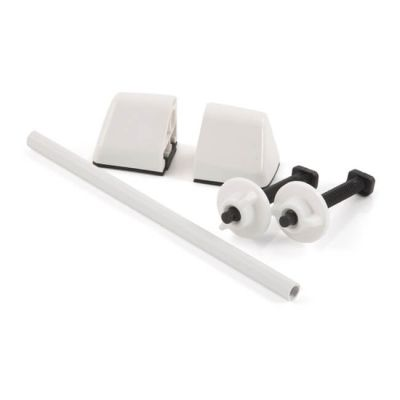 Pair of Toilet Seat Hinges - White