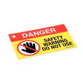 Gas Safe DANGER DO NOT USE labels