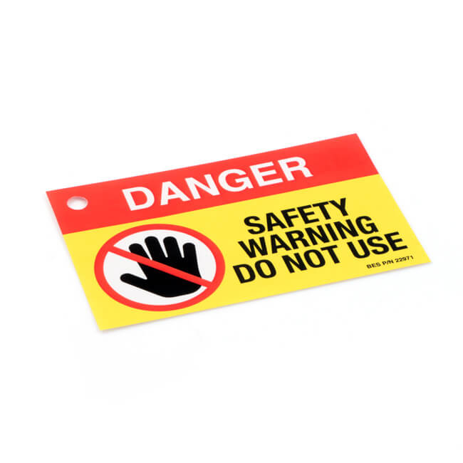 'DANGER DO NOT USE' Safety Warning Label