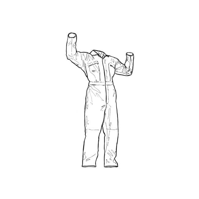 "Dickies Redhawk Zip Coverall - Leg 32"", Chest 42"""
