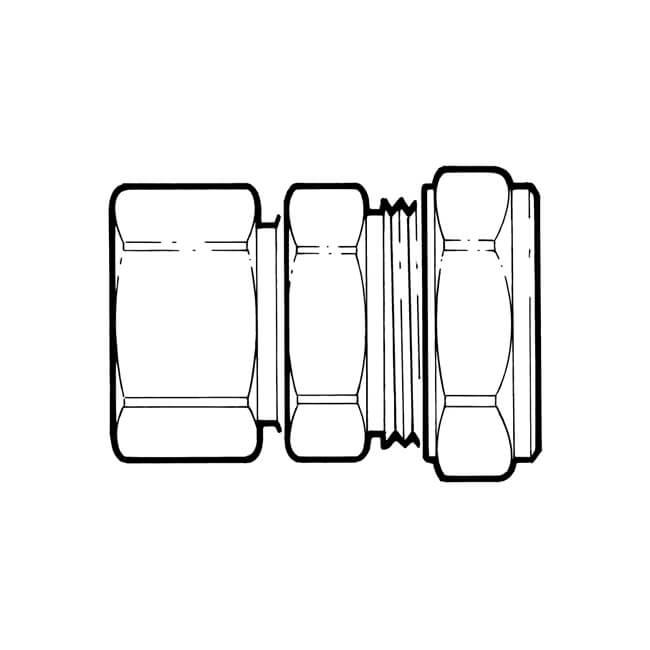 Tracpipe Straight Compression - DN28 x 28mm