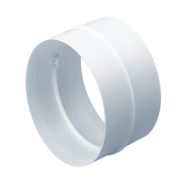 Domus Straight Pipe Connector - 100mm o.d. White