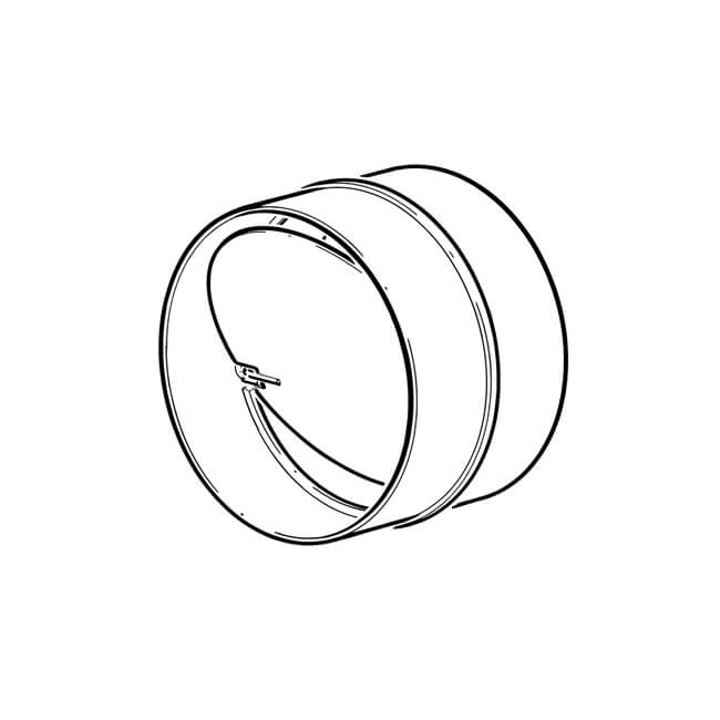 Domus Straight Pipe Connector & Damper - 125mm White