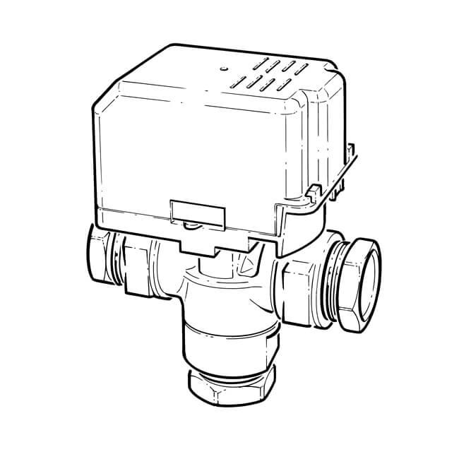 Drayton Motorised Diverter Valve - 3 Port 28mm