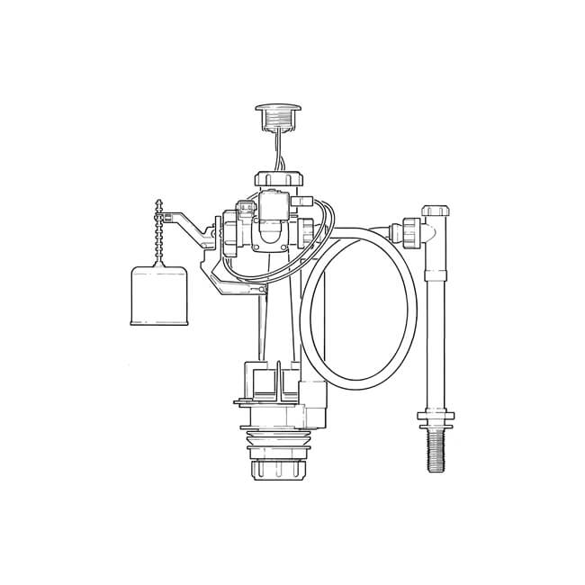 Easyflush Infrared Hands Free W.C. Cistern Valve