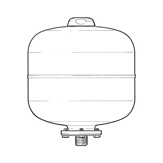 Expansion Vessel for Unvented Hot Water - 8 Litres