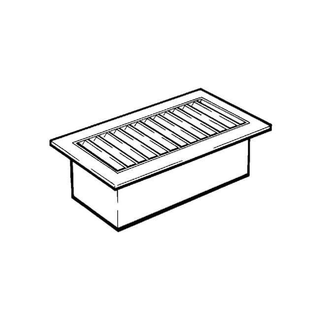 Floor Ventilator - Brass Finish