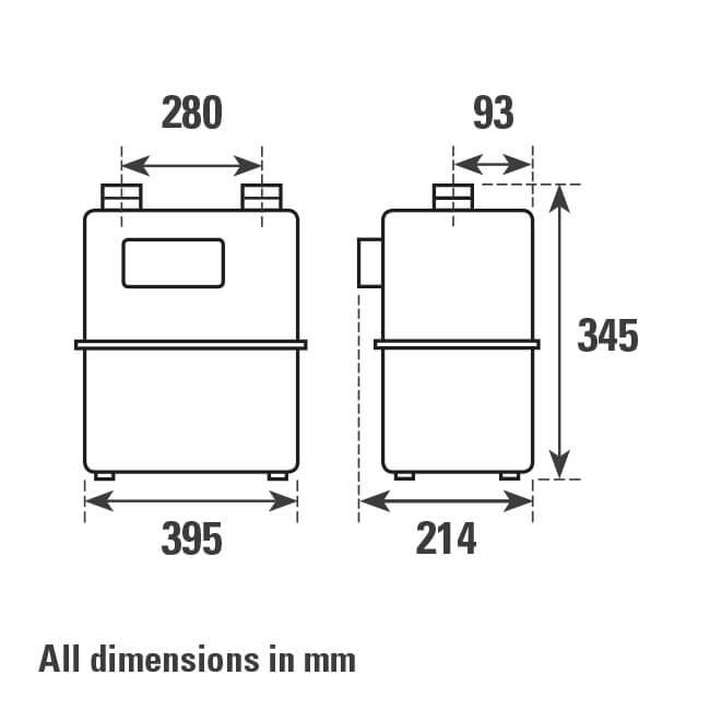 G10 Diaphragm Gas Meter 16m³/hr - 18412 | BES co uk