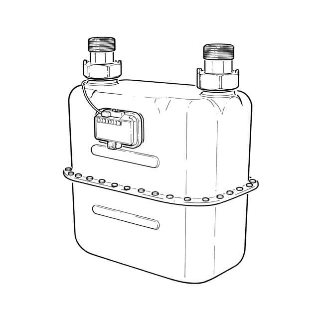 G25P Diaphragm Gas Meter - 40m³/hr