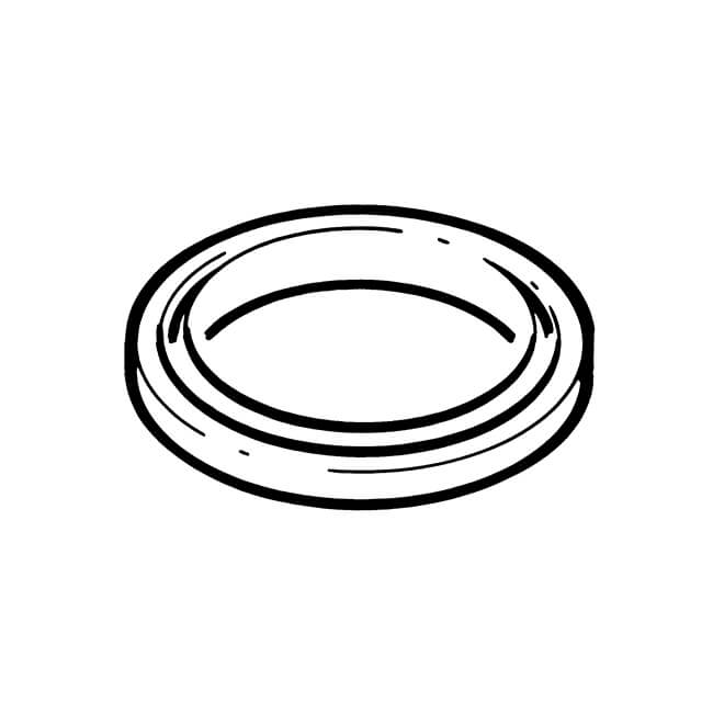 Gas Fire Restrictor Cap Bonded seal -Metal / rubber
