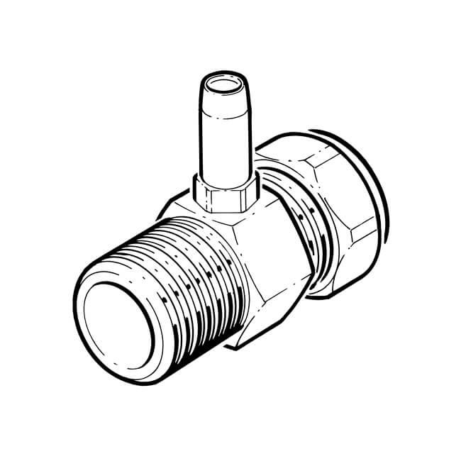 "Gas Test Point Adaptor Brass 1/2"" BSP TM x 10mm Comp."