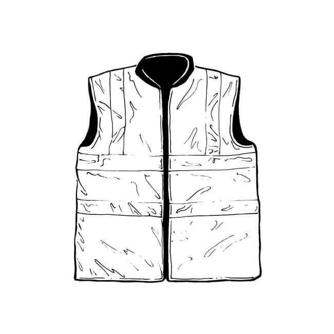 Hi Vis Reflective Bodywarmer - Large