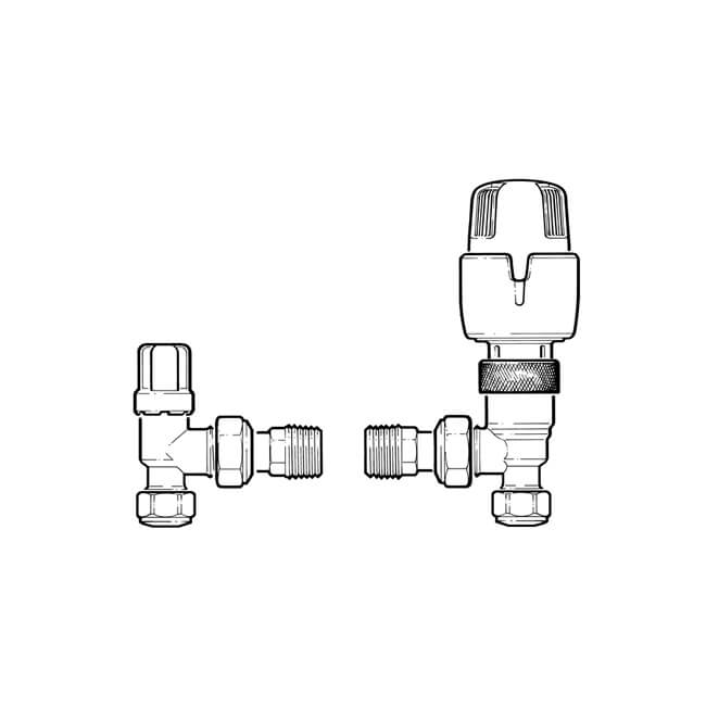 Inta Thermostatic Radiator Valve Twin Pack - 8/10mm