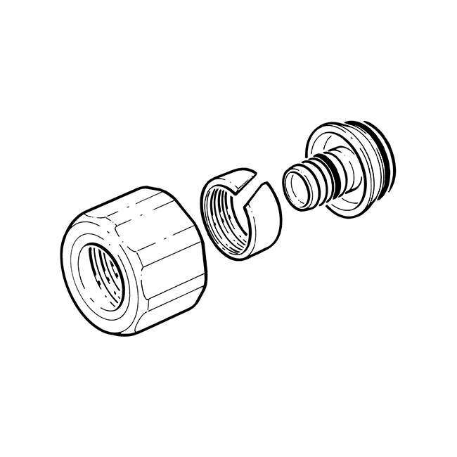 Inta Eurocone Manifold Connector - 16 x 2mm