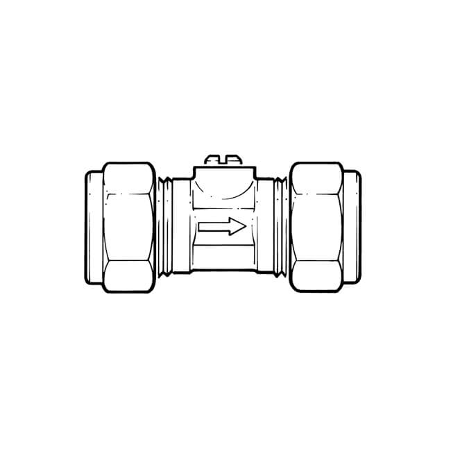 Isolating Valve - 15mm Brass