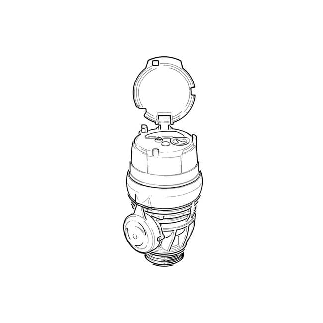"Itron Aquadis+ Cold Water Meter - G1.1/2"" Manifold"