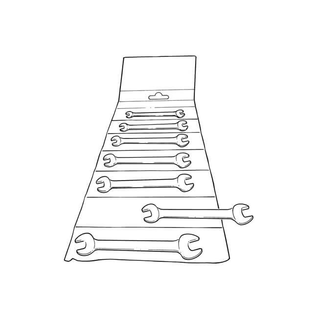 King Dick Metric Spanner Set - 7 Pieces