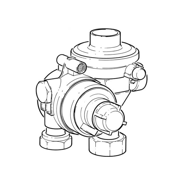 Mesura 2nd Stage Upsoopso Propane Regulator