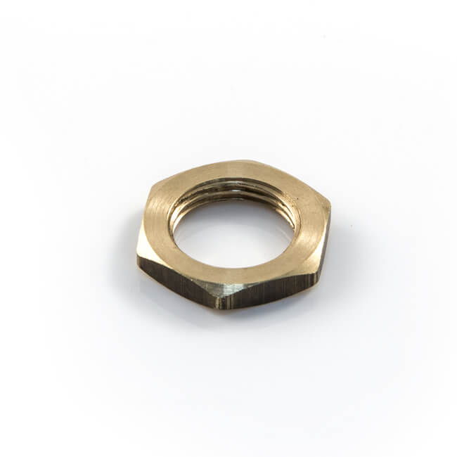 Brass Threaded Locknut - M8