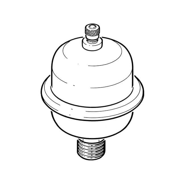"""Mini Expansion Vessel Shock Arrestor - 1/2"""" BSP TM"""