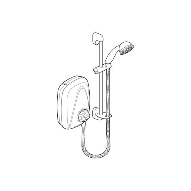 Mira Vigour Manual Integral Power Shower