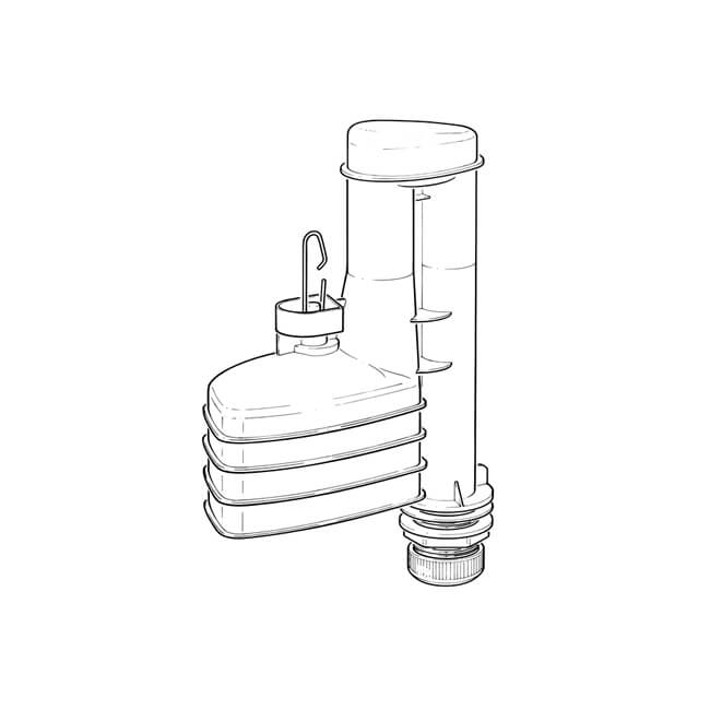opella delchem 9 u0026quot  dual flush syphon - 19241
