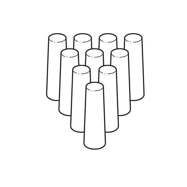 Filter for Testo 327-1 & 310 Analyser Probes, 10 Pack