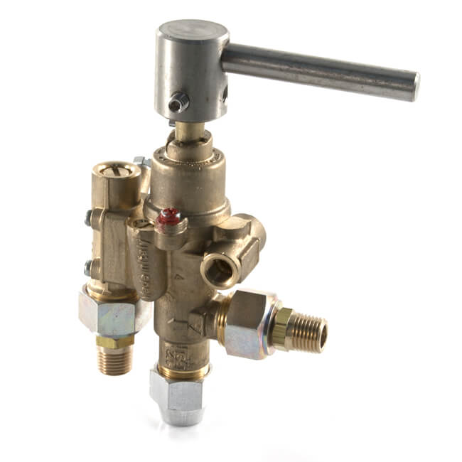 PEL22S Safety Gas Control Cock with Lever Handle 12mm