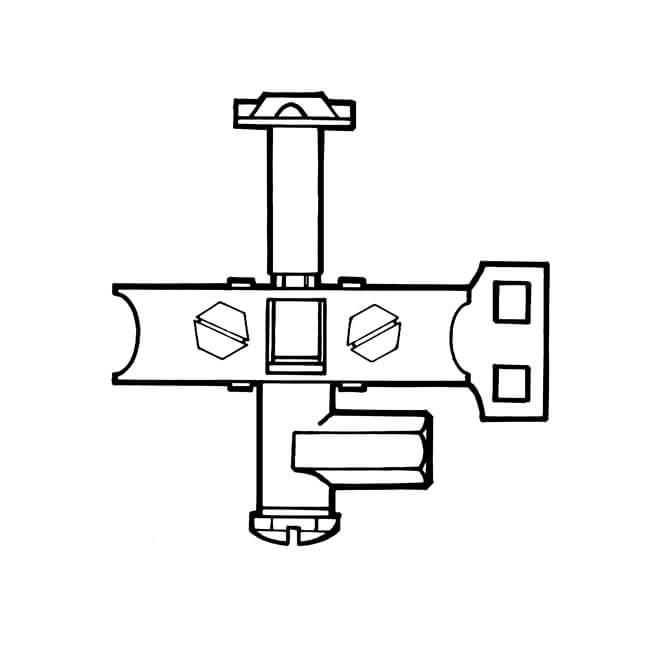 Pilot Burner Three-way Side - 4mm or 6mm