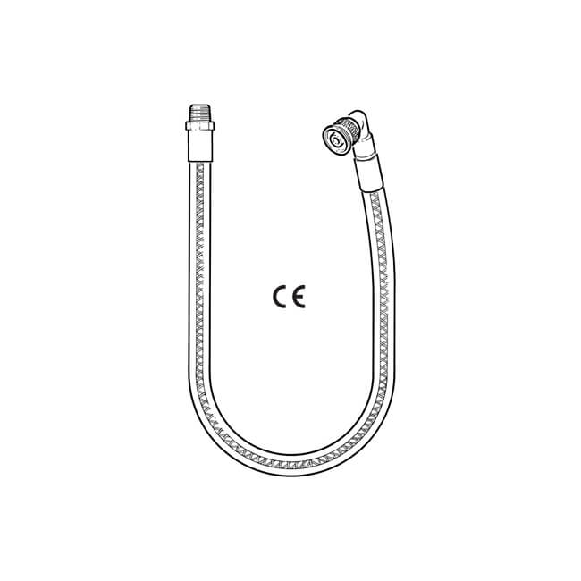 Plug-In Micropoint Bayonet Gas Cooker Hose 1000mm