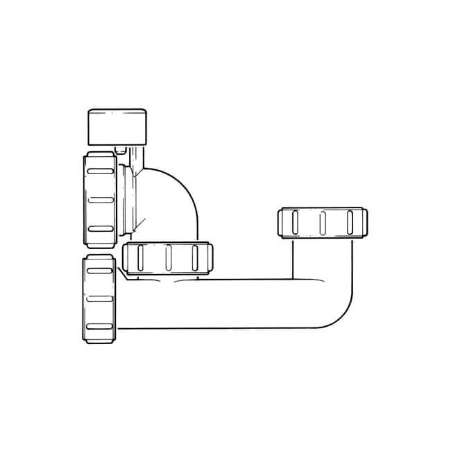 Anti Syphon Bath Trap Low Seal Overflow Access 1 1 2