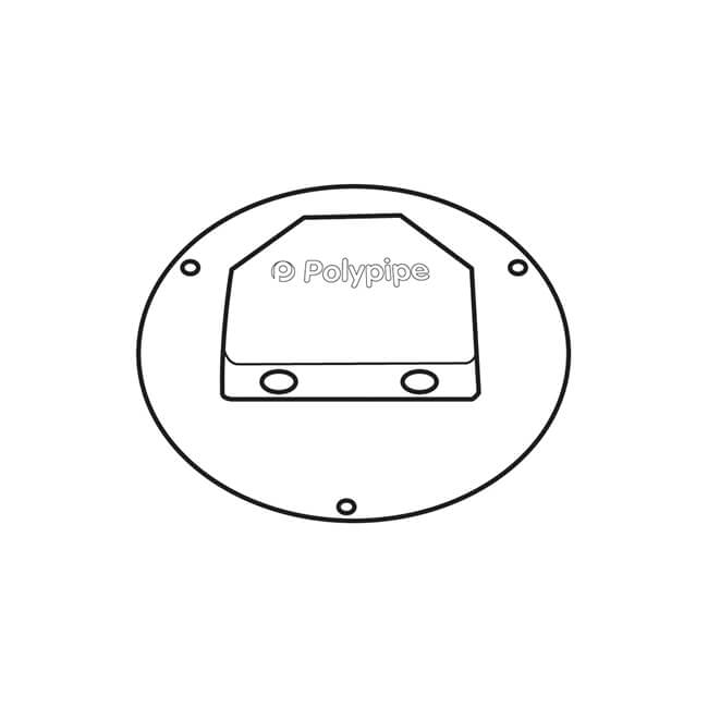polypipe polyplumb 10 mm - terminal plate - white - 21297