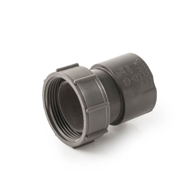 Polypipe 40Mm Threaded Coupling Abs Ws32:W Heating & Cooling Central Heating Systems & Accessories