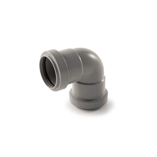 NEW Push Fit Bend 40mm x 90° Black plumbing Waste pipe  Each
