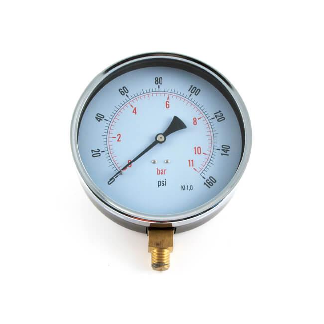 "Pressure Gauge - 0 to 11 bar, 6"" Dial"