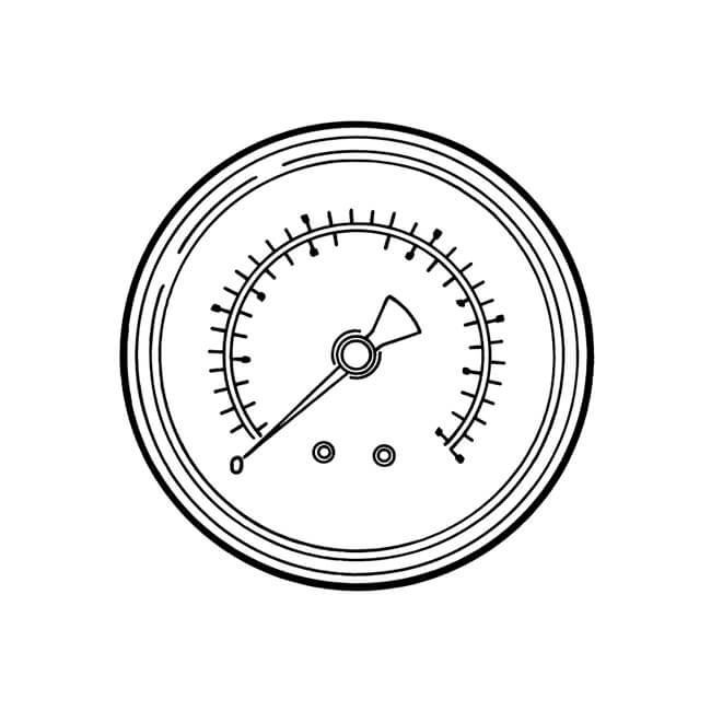 Pressure Gauge Rear Entry - 0 to 11 bar, 100mm Dial