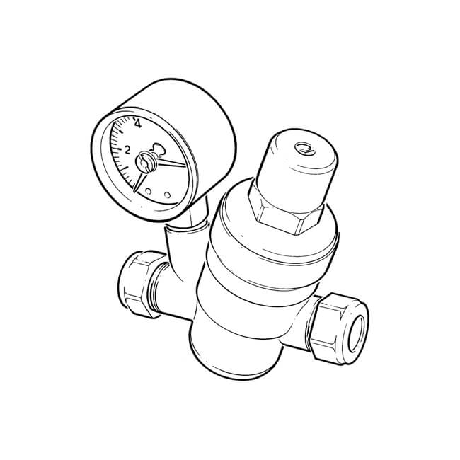 Adjustable Pressure Reducing Valve - 22mm