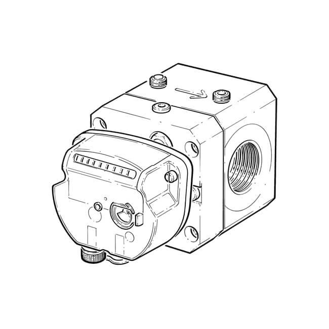 ITRON Quantometer Delta QD60 Rotary Gas Meter