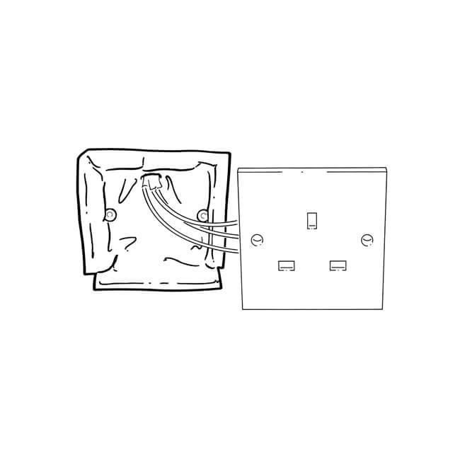 quelfire u00ae double socket pad - putpads - 21752
