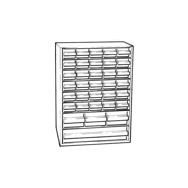 Raaco -18 Draw - Small Items Storage Cabinet