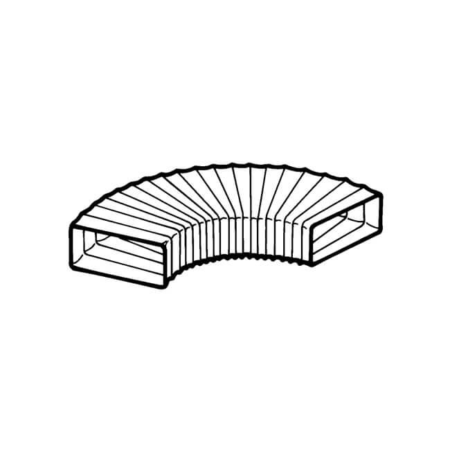 Domus MegaDuct 220 Rectangular Flexible Hose 3m White