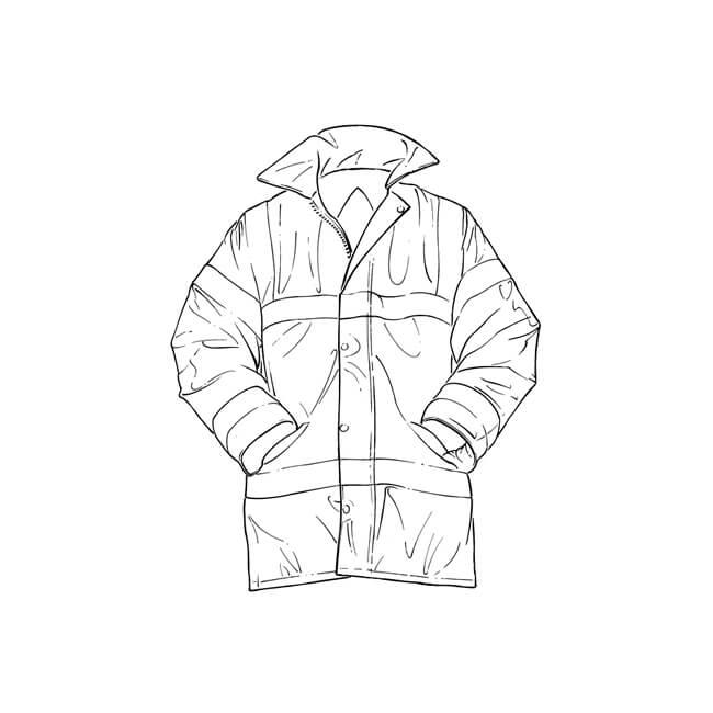 Hi Vis Reflective Coat - Medium