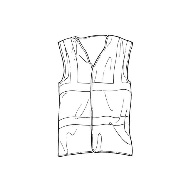 Hi Vis Reflective Waistcoat - One Size