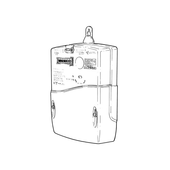 residential three-phase electricity meter - 19510