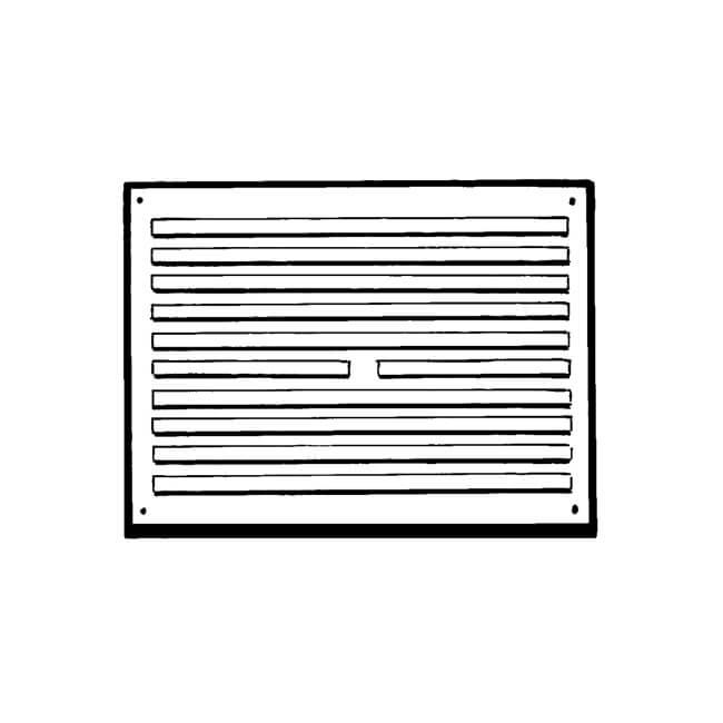"""Door Ventilator RVH96 - 9"""" x 6"""", White"""
