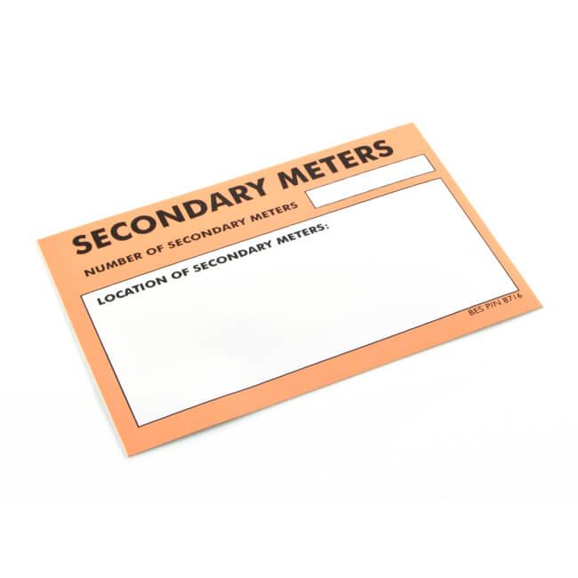 Secondary Meter Sticker