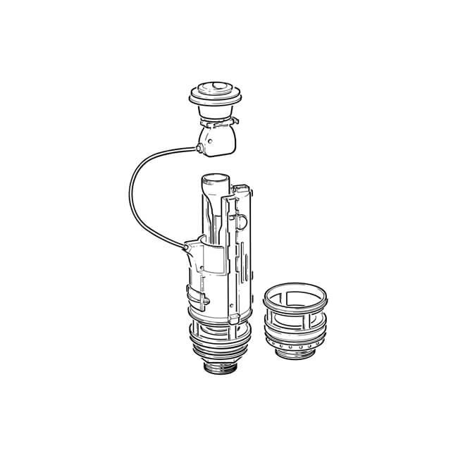viva skylo dual flush valve - 300mm