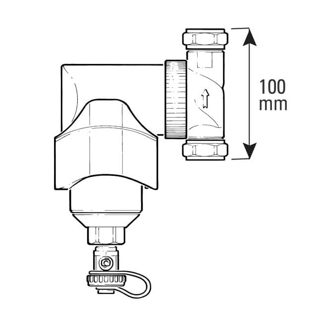 Spirotrap MB3 Dirt Separator - 22mm Compression