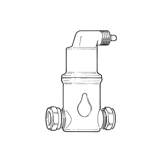 SpiroVent® Horizontal Air Separator 22mm Compression