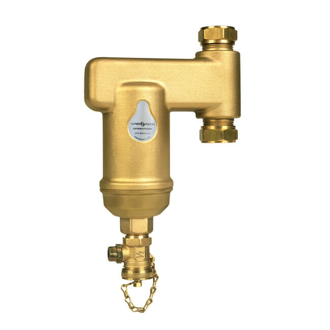 SpiroVent® Vertical Dirt Separator 22mm Compression